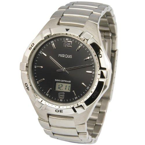 Sportliche Herren Funkuhr Funkarmbanduhr Junghans Uhrwerk Gehaeuse und Armband aus Edelstahl 964 6254