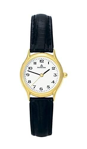 Dugena Damen-Armbanduhr Sportlich-Elegant Analog Quarz Leder 1626311