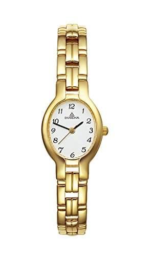 Dugena Damen-Armbanduhr Elegant Analog Quarz Edelstahl beschichtet 1936214