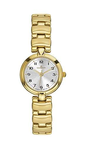 Dugena Damen-Armbanduhr Elegant Analog Quarz Edelstahl beschichtet 2009221