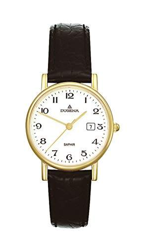 Dugena Damen-Armbanduhr Sportlich-Elegant Analog Quarz Leder 2171016
