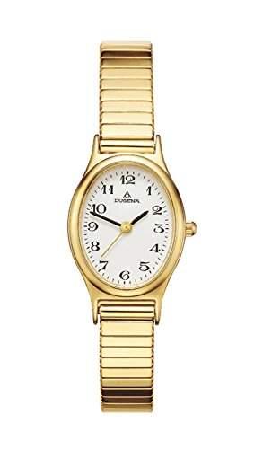 Dugena Damen-Armbanduhr Elegant Analog Quarz Edelstahl beschichtet 4168003
