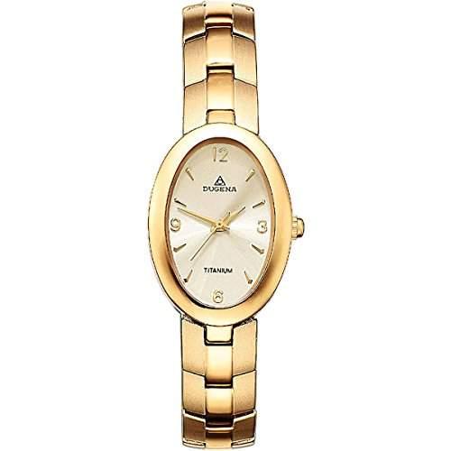 Dugena Damen-Armbanduhr XS Analog Quarz Edelstahl beschichtet 4168356
