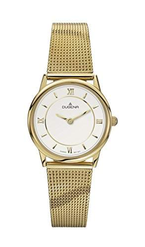 Dugena Damen-Armbanduhr Design Analog Quarz Edelstahl beschichtet 4460440