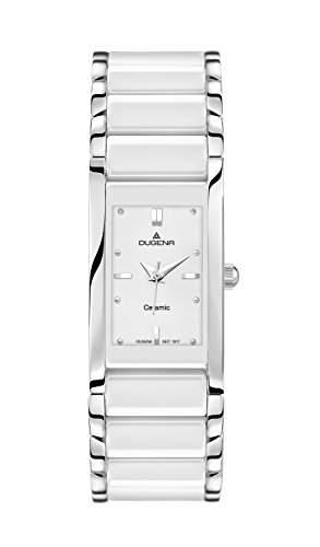 Dugena Damen-Armbanduhr Keramik Analog Quarz verschiedene Materialien 4460506