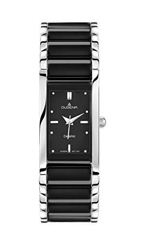 Dugena Damen-Armbanduhr Keramik Analog Quarz verschiedene Materialien 4460507