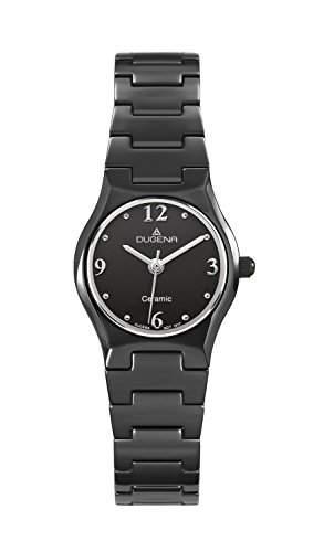 Dugena Damen-Armbanduhr Keramik Analog Quarz Keramik 4460509