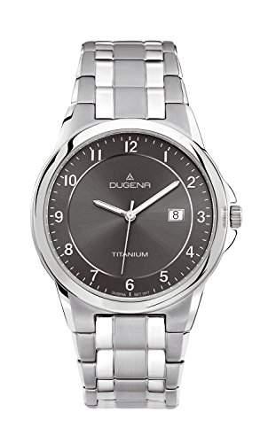 Dugena Herren-Armbanduhr Titan Analog Quarz Titan 4460513