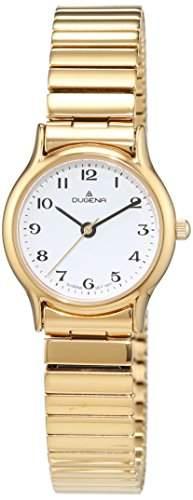 Dugena Damen-Armbanduhr Sportlich-Elegant Analog Quarz Edelstahl beschichtet 4460535