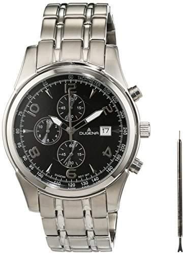 Dugena Herren-Armbanduhr Chronograph Quarz Edelstahl 4460585