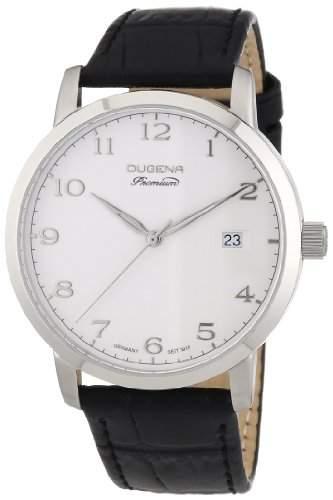 Dugena Herren-Armbanduhr XL Premium Analog Quarz Leder 7000004