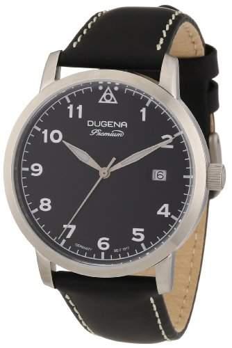 Dugena Herren-Armbanduhr XL Premium Analog Quarz Leder 7000006