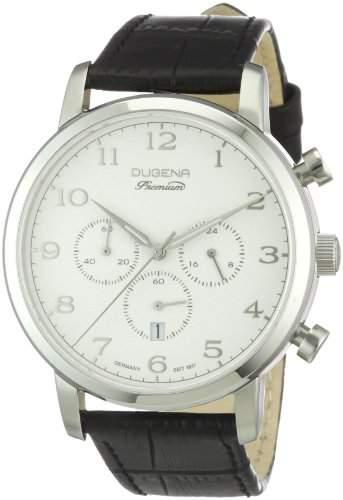 Dugena Herren-Armbanduhr XL Sirus Chronograph Quarz Leder 7000007