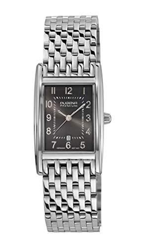 Dugena Damen-Armbanduhr QUADRA ARTDECO Analog Quarz Edelstahl 7000126