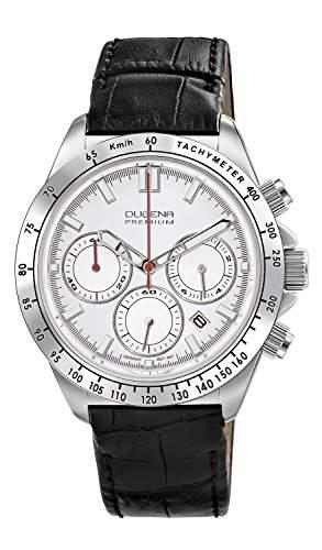 Dugena Herren-Armbanduhr IMOLA XL CHRONO Chronograph Quarz Leder 7000173
