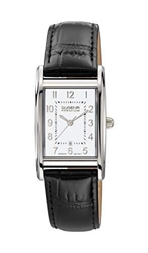 Dugena Damen-Armbanduhr QUADRA ARTDECO Analog Quarz Leder 7000123