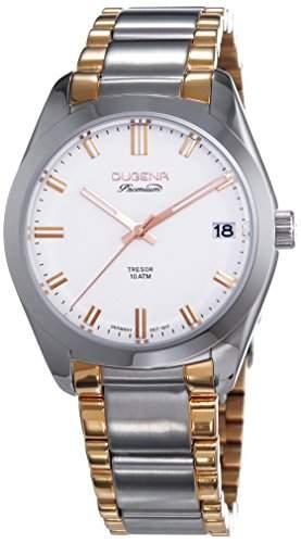 Dugena Herren-Armbanduhr XL Premium 2015 TRESOR Analog Quarz Edelstahl 7090111