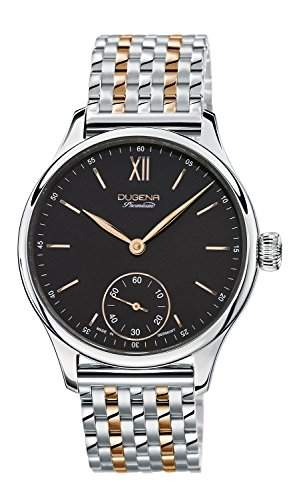 Dugena Herren-Armbanduhr EPSILON 10 Analog Handaufzug Edelstahl beschichtet 7090117