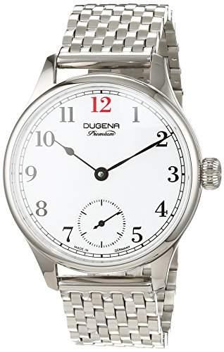 Dugena Herren-Armbanduhr EPSILON 2 Analog Handaufzug Edelstahl 7090056