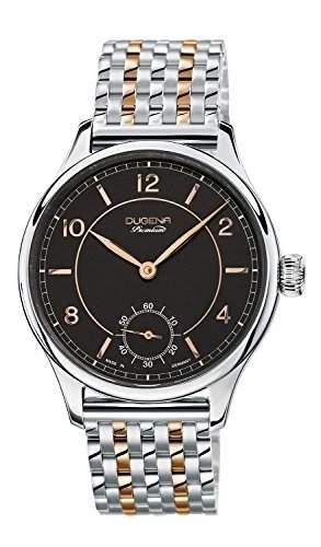 Dugena Herren-Armbanduhr EPSILON 8 Analog Handaufzug Edelstahl beschichtet 7090115