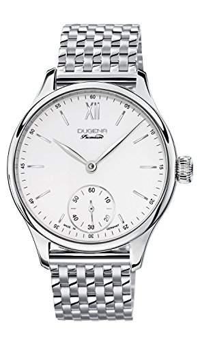 Dugena Herren-Armbanduhr EPSILON 9 Analog Handaufzug Edelstahl 7090116
