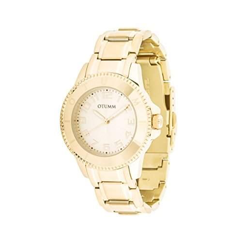OTUMM Damen-Armbanduhr Ibiza 38 mm, gold Analog Quarz Edelstahl 00173