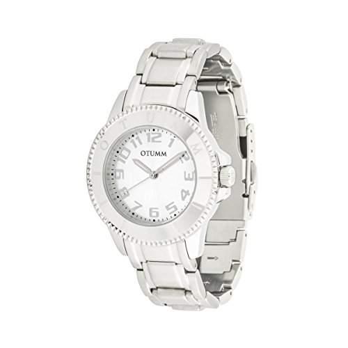 OTUMM Damen-Armbanduhr Ibiza 38 mm, silber Analog Quarz Edelstahl 00177