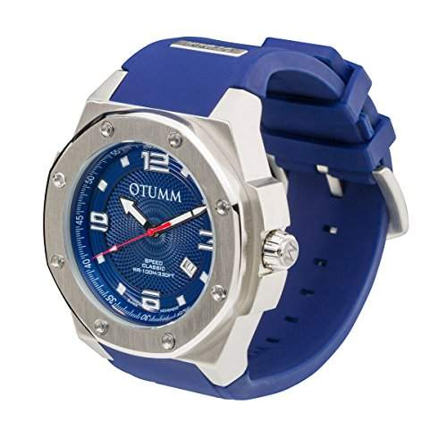 OTUMM Speed Classic 05368 Herren-Armbanduhr XL - 53mm analog - Blau
