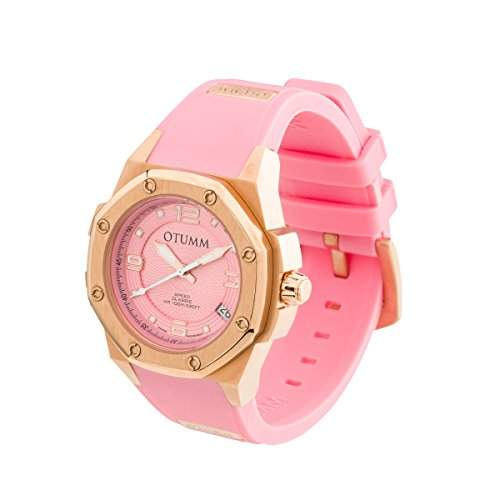 OTUMM Speed Classic 07368 Damen-Armbanduhr - 39mm analog - Roségold-Pink