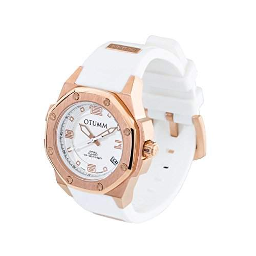OTUMM Speed Classic 01954 Damen-Armbanduhr - 39mm analog - Roségold-Weiss