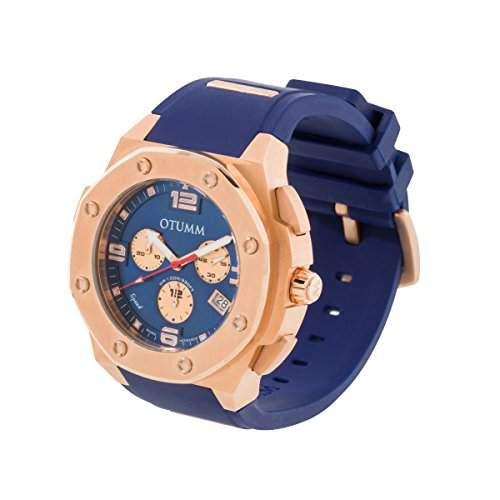 OTUMM Unisex-Armbanduhr Chronograph Quarz Silikon 09401