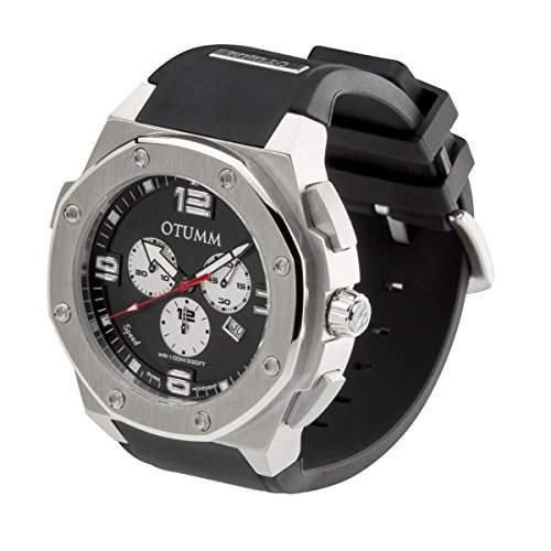 OTUMM Speed Steel 02945 Herren-Armbanduhr XL - 53mm Chronograph - Schwarz