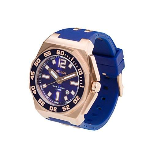 OTUMM Sports Calender 08723 Herren-Armbanduhr XL 45mm analog - Blau