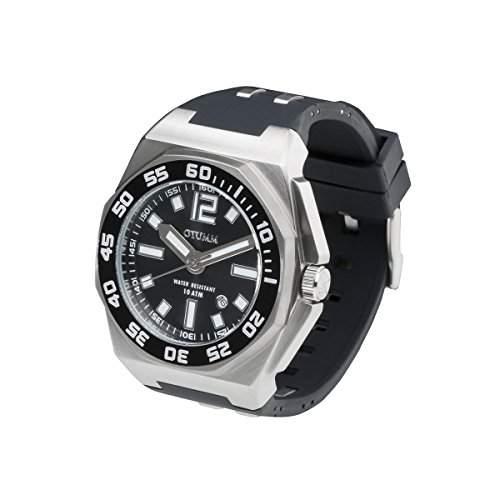 OTUMM Sports Calender 08725 Herren-Armbanduhr XL - 45mm analog - Schwarz