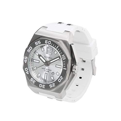 OTUMM Sports Calender 08724 Damen-Armbanduhr XL - 45mm analog - Weiss