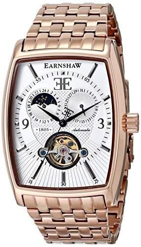 Earnshaw Herren ES-8010-44 Robinson Analog Display Automatic Self Wind Rose Gold Armbanduhr