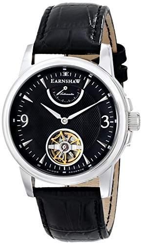 Earnshaw Herren ES-8014-01 Flinders Analog Display Japanese Automatic Black Armbanduhr