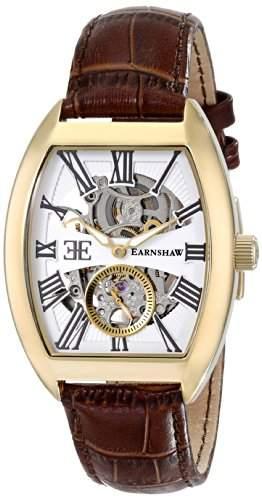Earnshaw Herren ES-8015-03 Holborn Analog Display Automatic Self Wind Brown Armbanduhr