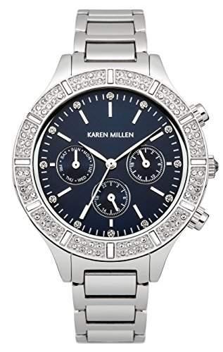 Karen Millen Damen-Armbanduhr Analog Quarz Edelstahl KM103SM