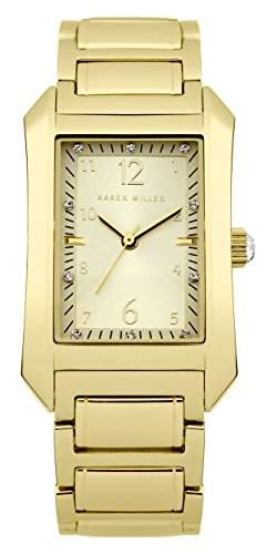 Karen Millen Damen-Armbanduhr Analog Quarz Edelstahl KM104GM