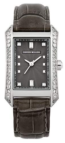 Karen Millen Damen-Armbanduhr Analog Quarz Leder KM111B