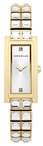 Karen Millen Damen-Armbanduhr Analog Quarz Edelstahl KM113GM