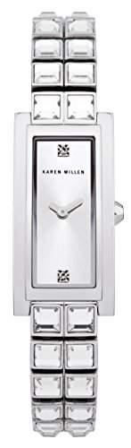 Karen Millen Damen-Armbanduhr Analog Quarz Edelstahl KM113SM