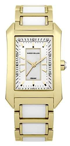 Karen Millen Damen-Armbanduhr Analog Quarz Edelstahl KM119GM