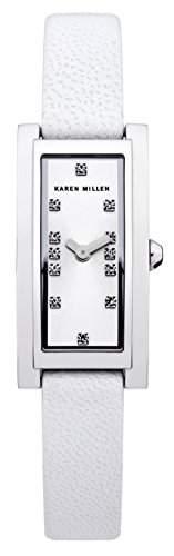 Karen Millen Damen-Armbanduhr Analog Quarz Leder KM120W