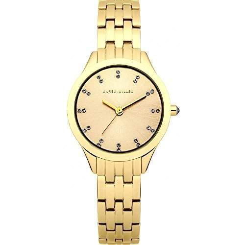 Karen Millen Damen-Armbanduhr Analog Quarz Edelstahl beschichtet KM127GM