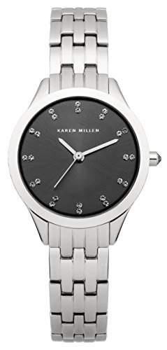 Karen Millen Damen-Armbanduhr Analog Quarz Edelstahl KM127SM