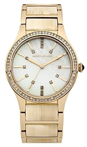Karen Millen Damen-Armbanduhr Analog Quarz Edelstahl KM128CGM