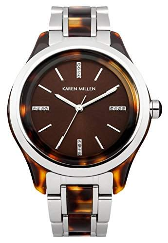 Karen Millen Damen-Armbanduhr Analog Quarz Edelstahl KM142TM