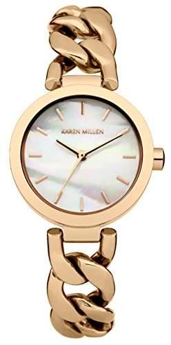 Karen Millen Damen-Armbanduhr Analog Quarz Edelstahl KM143RGM
